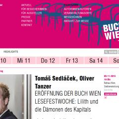 Homepage für die Buchmesse